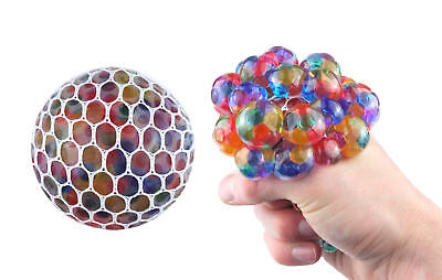 Bead Mesh Ball - Anti Stress Relief Stressball Sensory Squeezy Jelly Party Bag