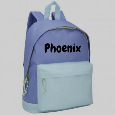 Personalised Junior Backpack - Light Blue