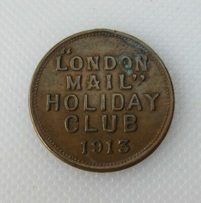 Collectable 1913 London Mail Club Members Badge Medallion No 35830 - No Loop