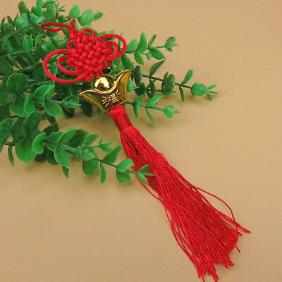 Hot Chinese Tassel Lucky Knot New Year Decorations Yuanbao Good Luck Knots Gift