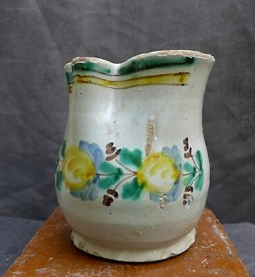 Nice Antique Majolica jug, South of Europe 17th. 18th. century
