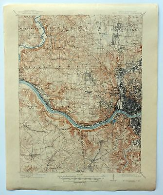 1914 West Cincinnati Ohio Finneytown Burlington Vintage 15 Minute