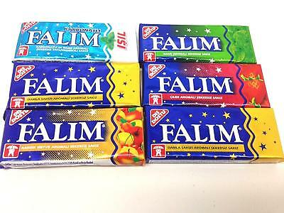 FALIM Sugar Free Chewing Gum 100 pcs (5x20) SUGARLESS Turkish chewing gum