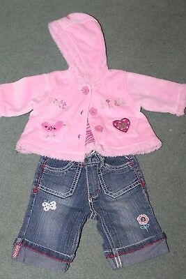 Girls Pumpkin Patch Jacket and Embroidered Jeans Size 000