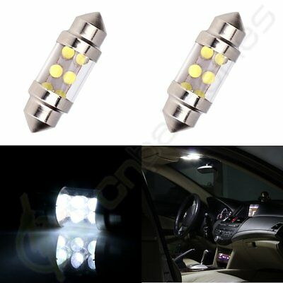 2x Interior Festoon Car LED 6SMD Bulb Lights Dome Map Trunk lamps White 31mm 12V