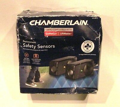 Chamberlain 801CB-P Replacement Safety Sensors, 2 Pack - NEW