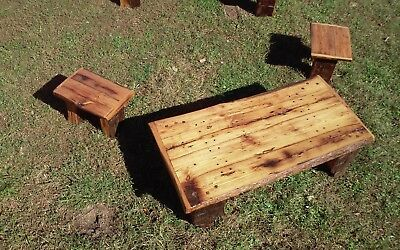 Antique Wormy Chestnut coffee and end table set.