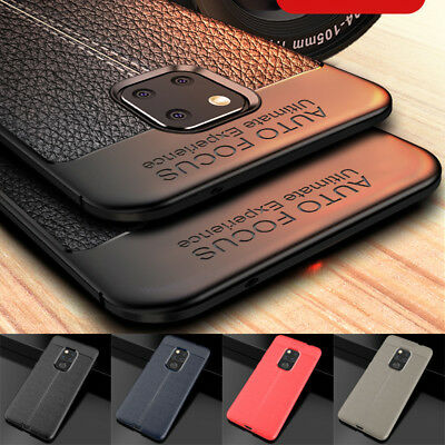 For Huawei Mate 20 Pro Lite Shockproof Rubber Slim TPU Leather Back Case Cover