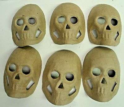 Lot of 50 Ready to Paint - Paper Mache - Halloween decor - Skull mask 8""