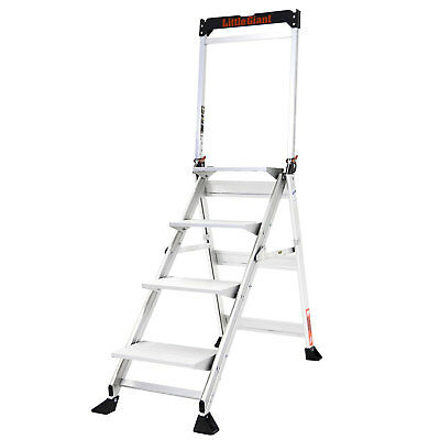 Little Giant Ladder Systems 375 Lb Capacity Aluminum Jumbo 4 Step Safety Ladder