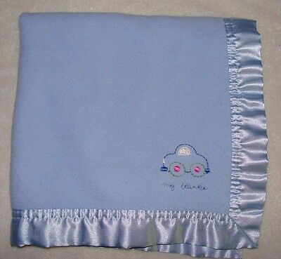Elegant Baby Blue My Blankie Car Security Blanket Satin Back