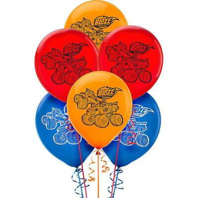 Blaze and The Monster Machines Latex Birthday Party Balloons. UK STOCK