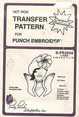 1980's VTG Pretty Punch Transfer Pattern D-FS3066 for Embroidery
