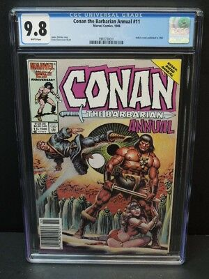 Marvel Comics Conan The Barbarian Annual #11 1986 Cgc 9.8 White Pages