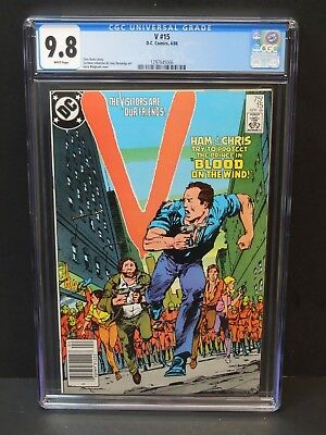 Dc Comics V #15 1986 Cgc 9.8 White Pages Carmine Infantino Art