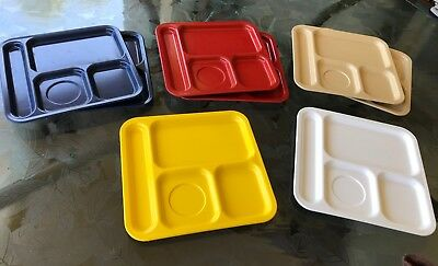 """TEXAS WARE - 8 VINTAGE LUNCH TRAYS 14"""" X 10"""" Nice condition!"""