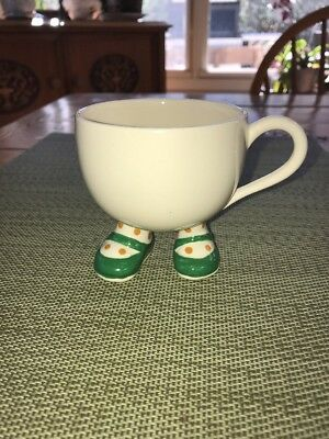 LOVELY Vintage Carlton Ware WALKING WARE Tea Cup Green Shoes England