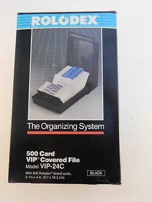 Rolodex The Organizing System VIP-24C 500 Cards Covered File NEW IN BOX