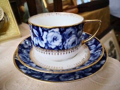 Vintage Rosenthal Bleu Royal German Porcelain Trio