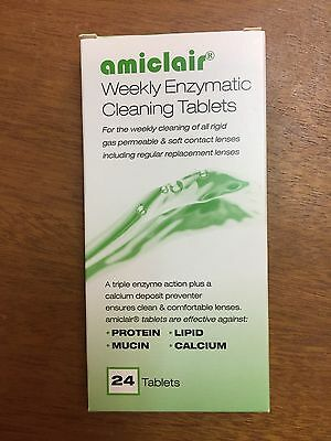 Amiclair Enzyme Cleaning Tablets 24 Tablet refill for All Lenses 6 months supply