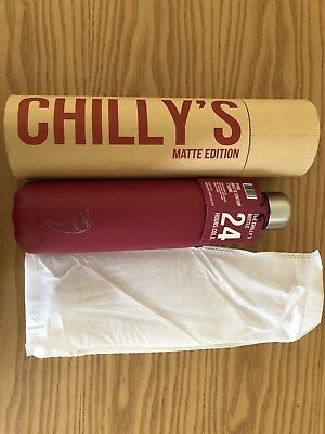Chilly's Official Cold Bottle BNWT box 750ml Pink