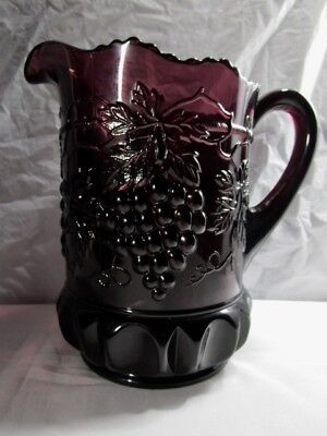 Mosser  Grape & Cable Water Pitcher   -  Purple   -   No Damage