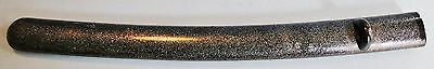 Rare  Antique Japanese Wakizashi Sword Saya Black Lacquer Mop Sparkle Edo 1830