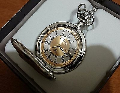 Men's Empire State Building Croton Pocket Watch W/ White & Gold Dial 1931 !!!