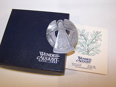 COLLECTIBLE WENDELL AUGUST Hand made FORGE ANGEL ORNAMENT
