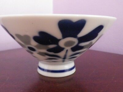 Lovely Vintage Japanese Porcelain Flowers Design Bowl 12 Cms Diameter