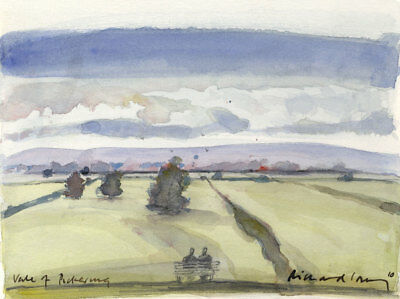 Richard J.S. Young - 2010 Watercolour, Vale of Pickering