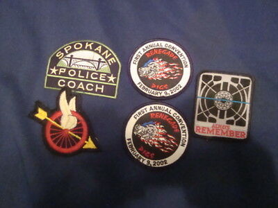 Lot Of  Police Biker Swat Patches (5)