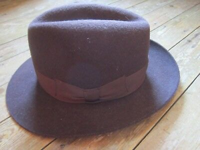 Vintage Mens Trilby. Brown. The Graduate.