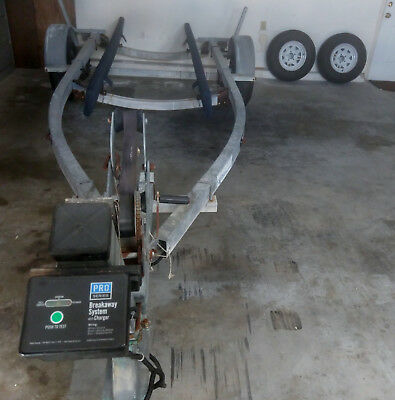 Galvanized Boat Trailer - New Carpeted Bunks  - Electric Brakes & 2 New Spares