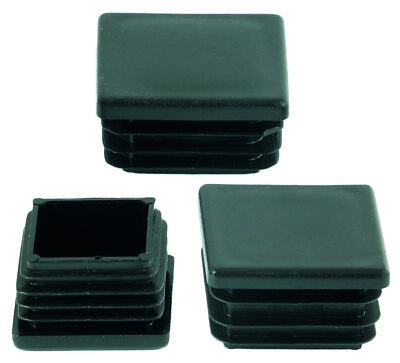 60x60mm Square Plastic Black Blanking End Caps Plug Pipe Inserts. Square Plugs