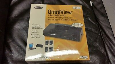 New Belkin OmniView 4-Port KVM Switch PS/2