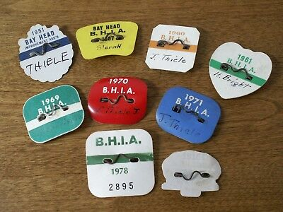Vintage Bay Head New Jersey Beach Badges Tags  Lots of Years 1951-1978