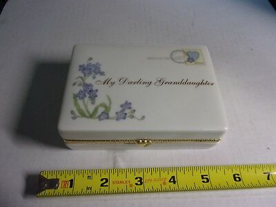 2005 Ardleigh Elliott Heirloom Porcelain Music Box My Darling Granddaughter