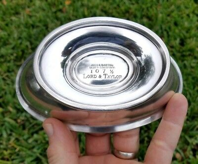 Lord & Taylor NYC Silver Oval Bowl by Reed & Barton - Nice Shape!