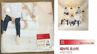 BTS Official Fabric Poster Love Yourself World Tour Seoul RM JIN V SUGA Goods