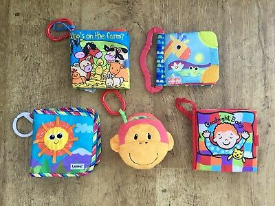 Jellycat Lamaze Bright Starts & Mothercare ~ 5 Soft Cloth Books ~ Sensory Toys