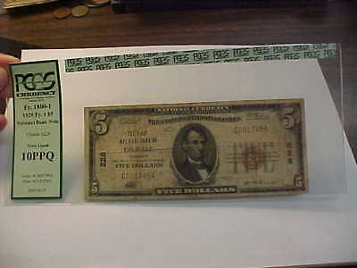 1929  $5  Small  National Currency Banknote Charter 228 Orwell Vt Pcgs Vg 10 Ppq