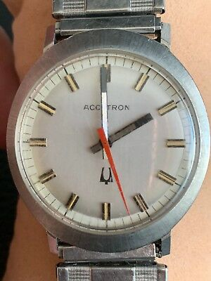 Immaculate All Stainless Steel cased, Accutron, Red Hand! Rare! No reserve!!!