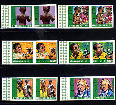 Guinea #552-557  1970 Campaign Against Smallpox & Measels  Mint  Vf Nh  O.g Imp.