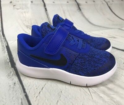 1167373231676 NWOB BOYS NIKE Flex Contact Toddler Shoes Racer Blue 917935 402 5C ...