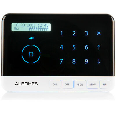 ALBOHES 9-Zone Smart Sprinkler Controller WiFi-Enabled Area Irrigation Timer Set