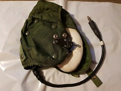 With Electrics & Hooks RAF RN Type G Flying Helmet size 4 Aircrew Pilot Fast Jet