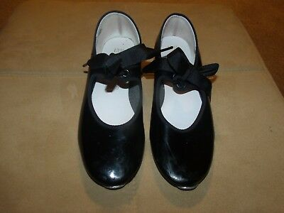 Dance Time Black Tap Shoes Girls Size 13.5