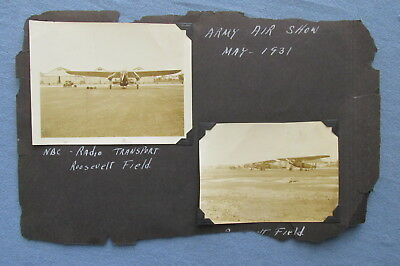 Lor of THREE 1931 Army Air Show PHOTOGRAPHS Roosevelt Field Mineola Long Island