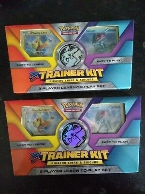Pokemon TCG: Pikachu Libre & Suicune 2-Player Trainer Kits (2 boxes included)